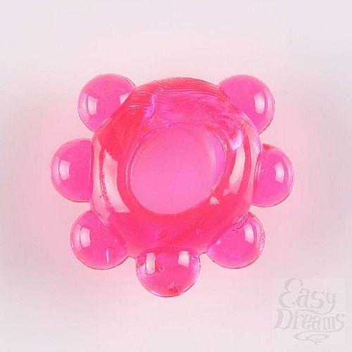 Фотография 1:  Розовое эрекционное колечко  Цветок