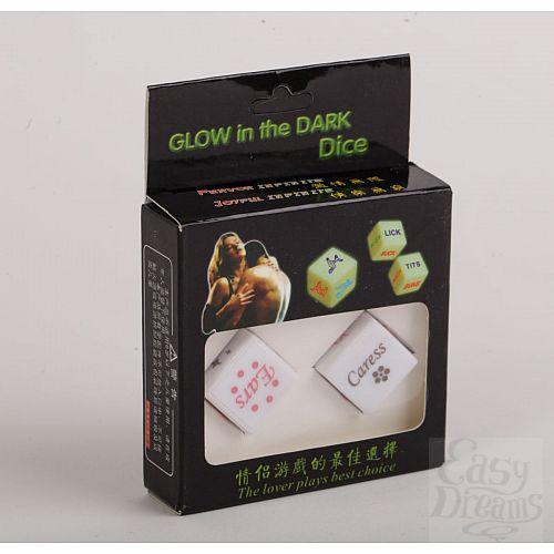 Фотография 1:  Светящиеся в темноте игровые кости для любовных игр