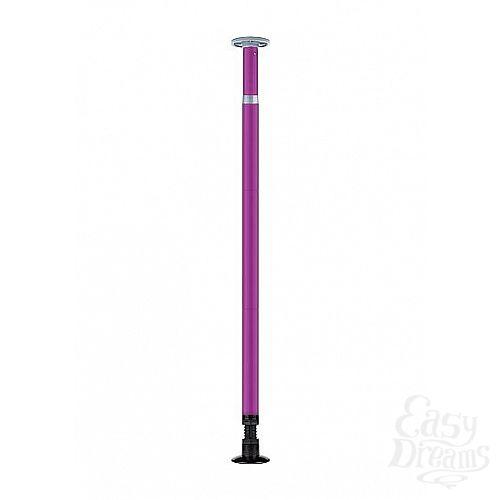 Фотография 1:  Фиолетовый регулируемый шест для танцев