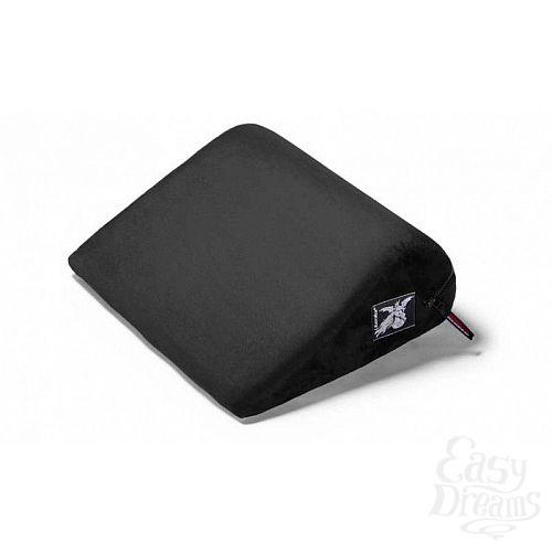 Фотография 1:  Чёрная малая замшевая подушка для любви Liberator Retail Jaz