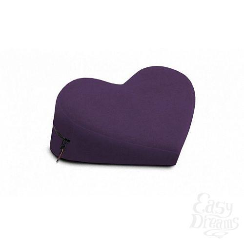 Фотография 1:  Фиолетовая малая вельветовая подушка-сердце для любви Liberator Retail Heart Wedge