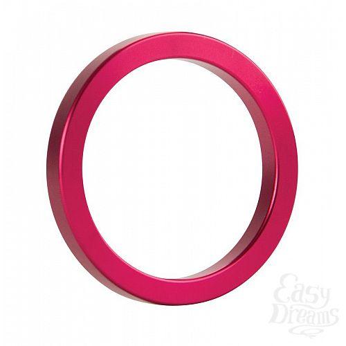 Фотография 1:  Розовое металлическое эрекционное кольцо Metal Cockring