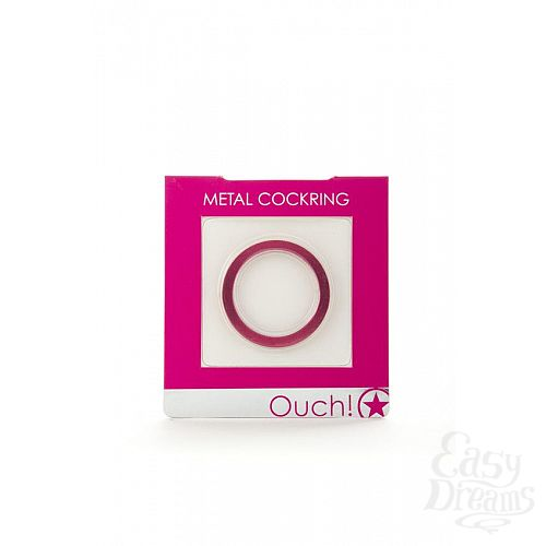 Фотография 2  Розовое металлическое эрекционное кольцо Metal Cockring