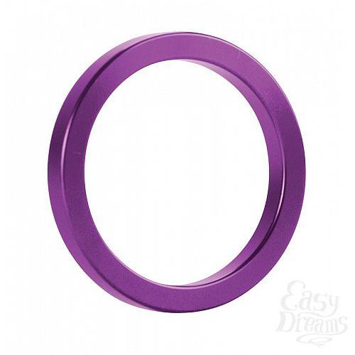 Фотография 1:  Фиолетовое металлическое эрекционное кольцо Metal Cockring