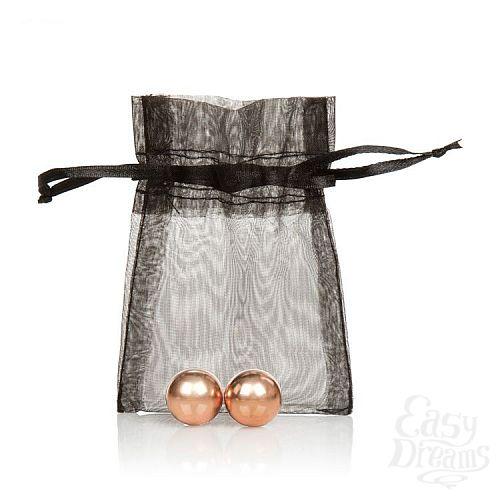 Фотография 2  Золотистые вагинальные шарики Entice Weighted Kegel Balls