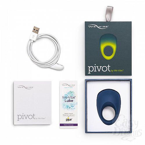 Фотография 7  Синее эрекционное виброкольцо We-vibe Pivot