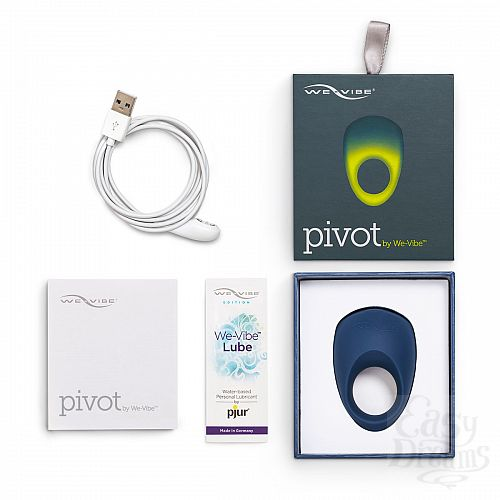 Фотография 5 We-Vibe Новинка. Мощное виброкольцо на пенис, с управлением со смартфона - Pivot By We Vibe , Синий