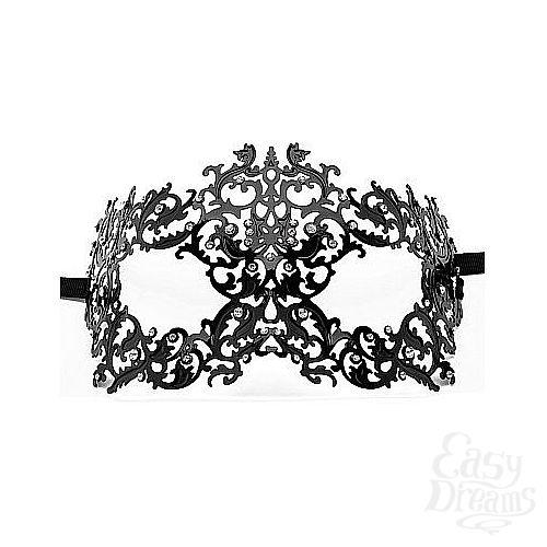 Фотография 1:  Чёрная металлическая маска Forrest Queen Masquerade