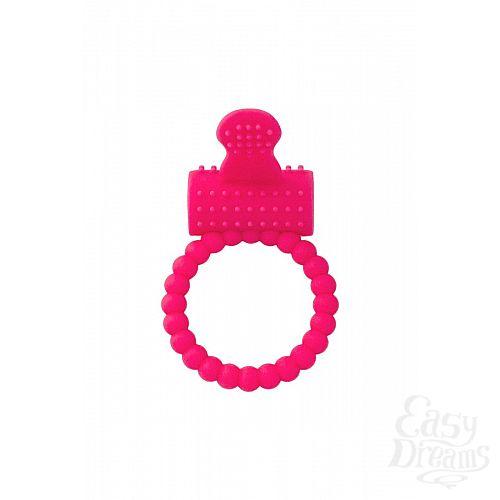 Фотография 2  Розовое силиконовое виброкольцо A-toys