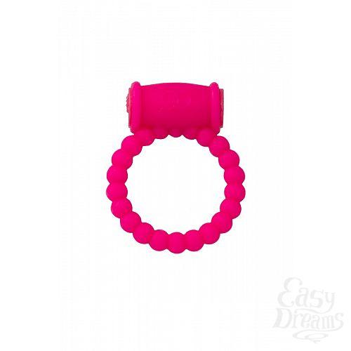 Фотография 2  Розовое виброкольцо на пенис A-toys из силикона