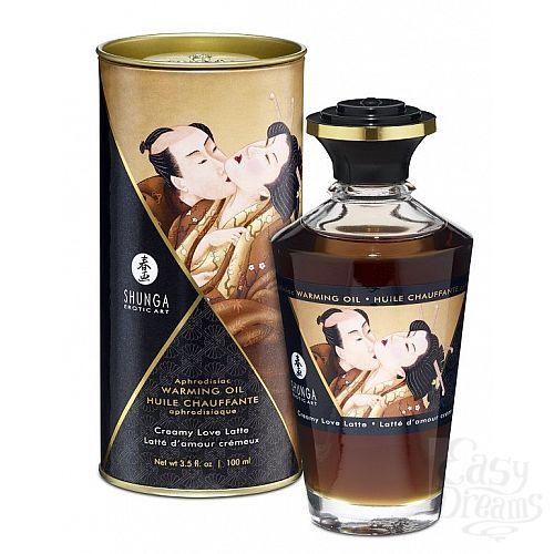 Фотография 1:  Массажное интимное масло с ароматом сливочного латте - 100 мл.