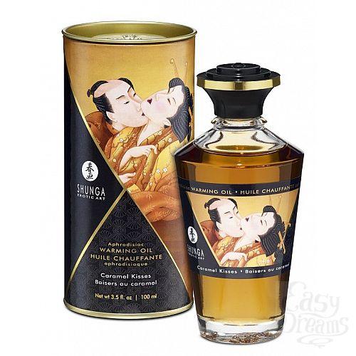Фотография 1:  Массажное интимное масло с ароматом карамели - 100 мл.
