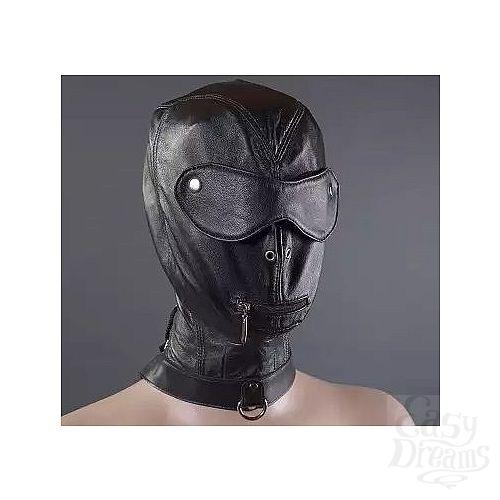 Фотография 1:  Шлем с шорами, молнией для рта и ошейником