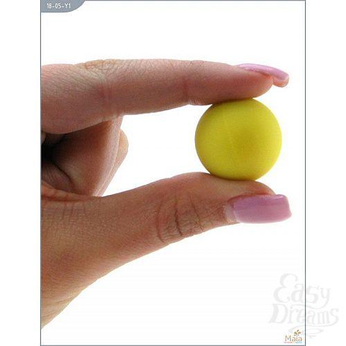 Фотография 5  Металлические вагинальные шарики с жёлтым силиконовым покрытием