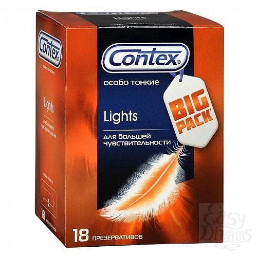Фотография 1:  Особо тонкие презервативы Contex Lights - 18 шт.