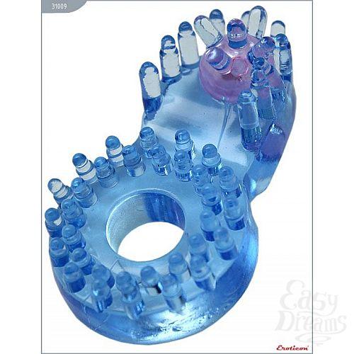 Фотография 1:  Кольцо с клиторальным язычком и шипиками