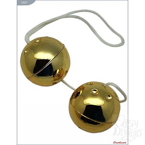Фотография 1:  Золотистые шарики со смещённым центром тяжести