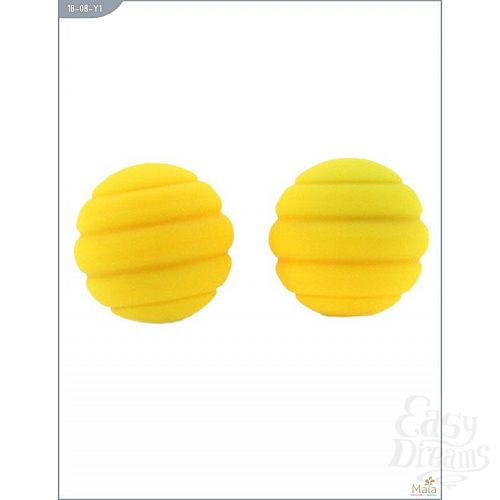 Фотография 1:  Металлические шарики Twistty с жёлтым силиконовым покрытием