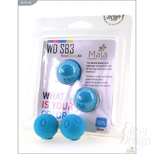 Фотография 2  Металлические шарики Wicked с голубым силиконовым покрытием