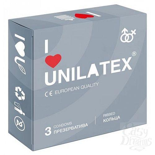 Фотография 1:  Презервативы с рёбрами Unilatex Ribbed - 3 шт.