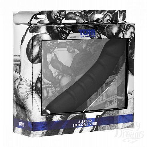 Фотография 3  Ребристый анальный вибратор 5 Speed Silicone Vibe - 24 см.