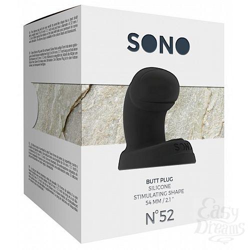 Фотография 3  Чёрная анальная пробка SONO  52