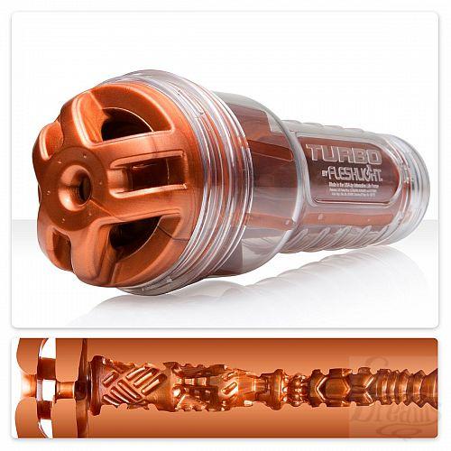 Фотография 1:  Мастурбатор Fleshlight Turbo - Ignition Copper