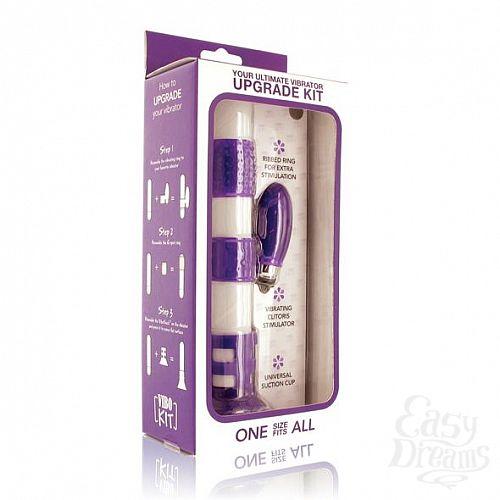 Фотография 2  Набор фиолетовых насадок на вибратор Vibrator Upgrade Kit