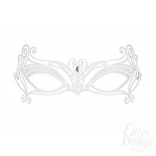 Фотография 2  Белая металлическая маска на завязках