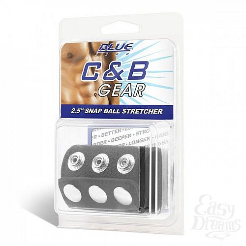 Фотография 2  Утяжка на пенис на кнопочках 100% PVC STRAP WITH METAL SNAP