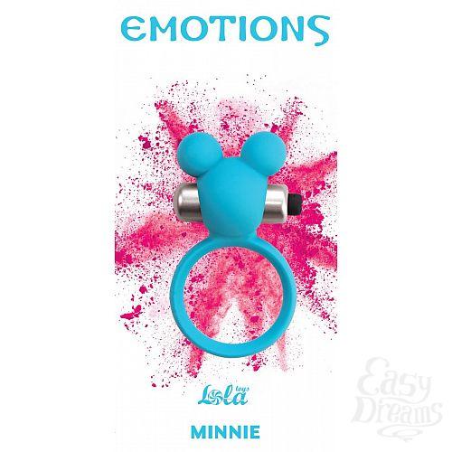 Фотография 1:  Голубое эрекционное виброколечко Emotions Minnie Breeze