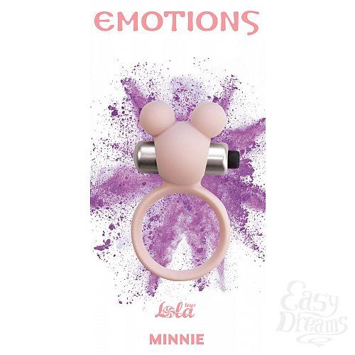 Фотография 1:  Розовое эрекционное виброколечко Emotions Minnie Light pink