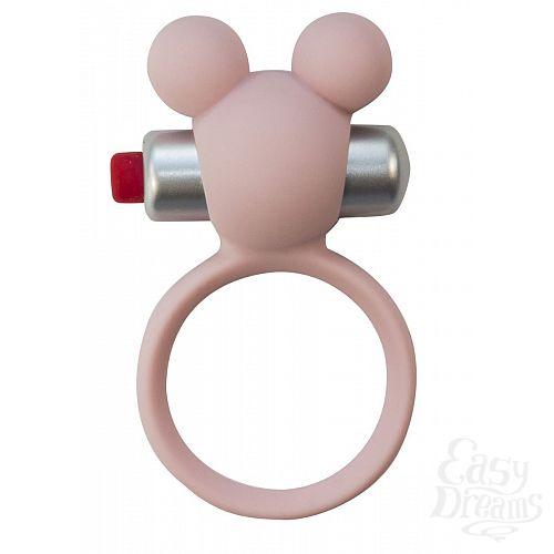 Фотография 2  Розовое эрекционное виброколечко Emotions Minnie Light pink