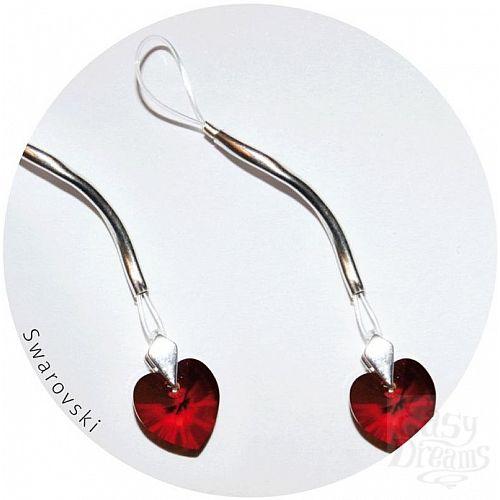 Фотография 1:  Украшение для груди с кристаллами Swarovski в форме сердца