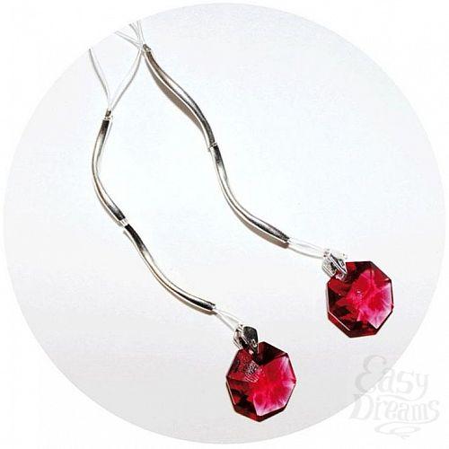 Фотография 1:  Украшение для груди с красными кристаллами Swarovski