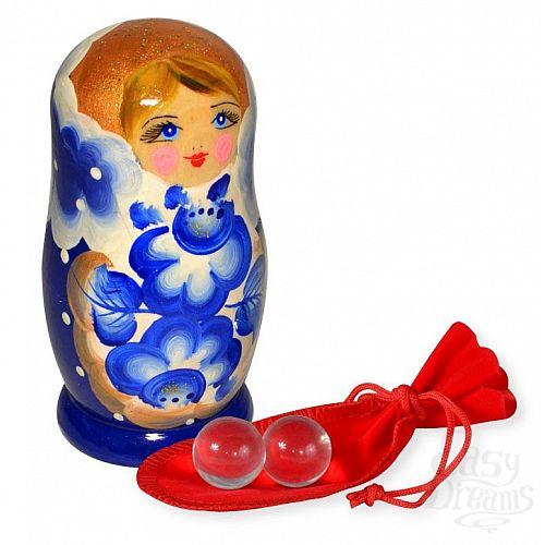 Фотография 1:  Маленькие стеклянные вагинальные шарики в футляре-матрёшке