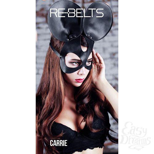 Фотография 1:  Чёрная маска Carrie Black с круглыми ушками