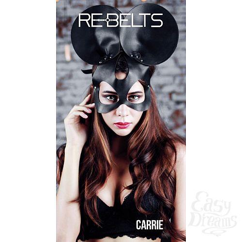 Фотография 2  Чёрная маска Carrie Black с круглыми ушками