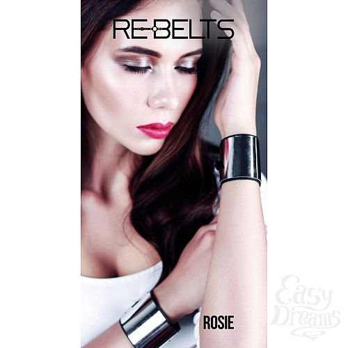 Фотография 2  Черные наручники с зеркальным элементом Rosie Black