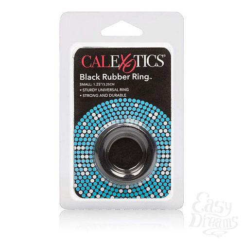 Фотография 3  Чёрное эрекционное кольцо Black Rubber Ring