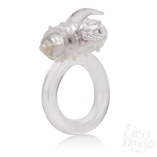 Фотография 3  Прозрачное эрекционное кольцо с вибрацией One Touch Flicker