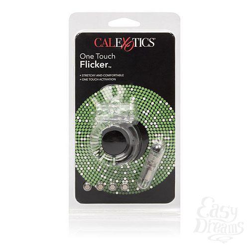 Фотография 4  Прозрачное эрекционное кольцо с вибрацией One Touch Flicker