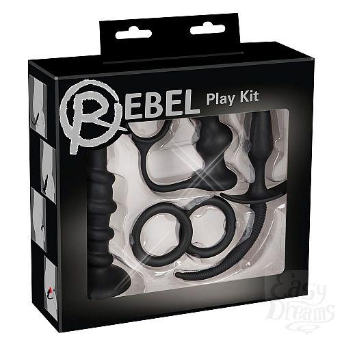 Фотография 2  Набор чёрных стимуляторов для анальных удовольствий Rebel Anal Set