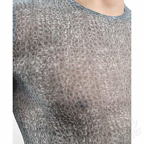 Фотография 2  Серая мужская футболка в облипку