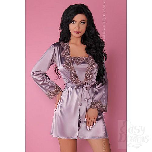 Фотография 10  Роскошный ночной комплект Jacqueline: пеньюар, сорочка и трусики-стринги