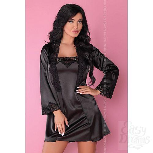Фотография 6  Роскошный ночной комплект Jacqueline: пеньюар, сорочка и трусики-стринги