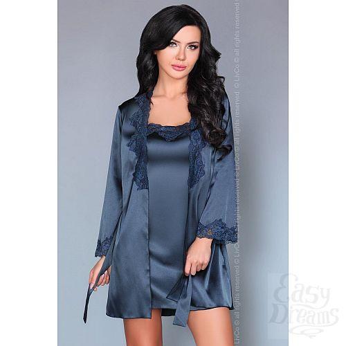 Фотография 8  Роскошный ночной комплект Jacqueline: пеньюар, сорочка и трусики-стринги