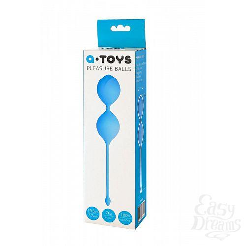 Фотография 7  Голубые вагинальные шарики Toyfa A-toys
