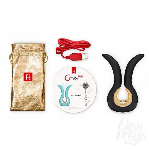Фотография 2 FT London (Fun Toys) NEW! Красивый вибратор Gvibe Mini Gold, с покрытием золотом - Gvibe (FT London). Ограниченная серия!, Черный