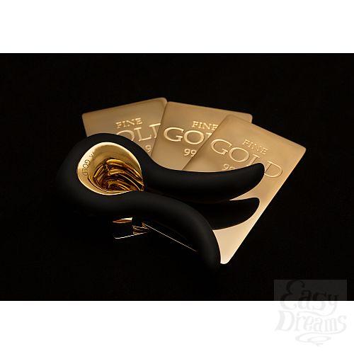 Фотография 9 FT London (Fun Toys) NEW! Красивый вибратор Gvibe Mini Gold, с покрытием золотом - Gvibe (FT London). Ограниченная серия!, Черный